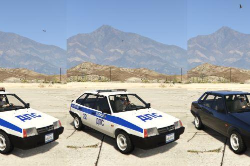 VAZ-21093i-21099i LADA Samara Police [Add-On | Extras]