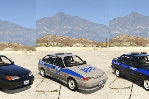 VAZ-2114-2115 LADA Samara 2 Police [Add-On | Extras]