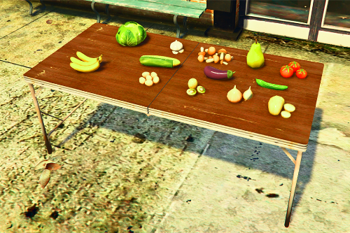 Vegetables and fruits (props)