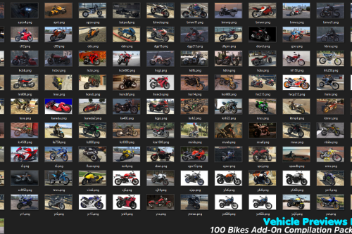 "Vehicle Previews Pack for ""100 Bikes Add-On Compilation Pack Final"" v1.0"