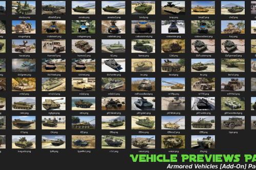 "Vehicle Previews Pack for ""Armored Vehicles [Add-On] Pack"""