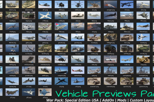 "Vehicle Previews Pack for ""War Pack: Special Edition USA"""