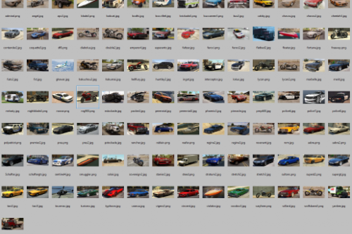 """Vehicle Previews Pack for """"IVPack (GTA IV vehicles) for GTA 5 """""""