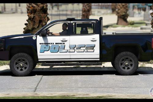 Vespucci Beach Police 2017 Chevrolet Silverado Skin