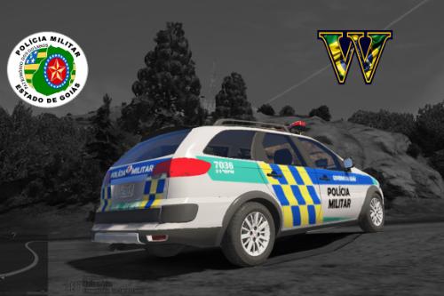 Viatura Polícia Militar Goiás - PMGO Fiat Palio Weekend