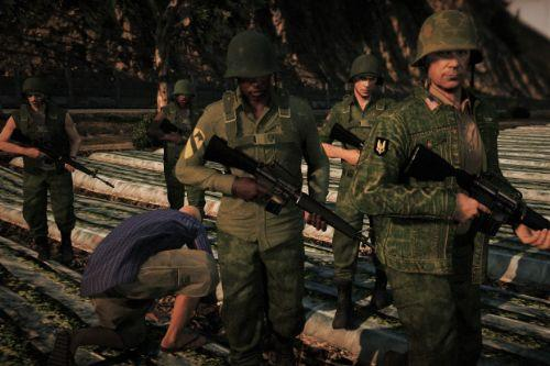 Vietnam War Uniforms Retexture Pack for MP_FREEMODE (+Skin Control characters)