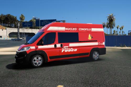 Vigili del Fuoco Cinofili   Fiat Ducato ELS