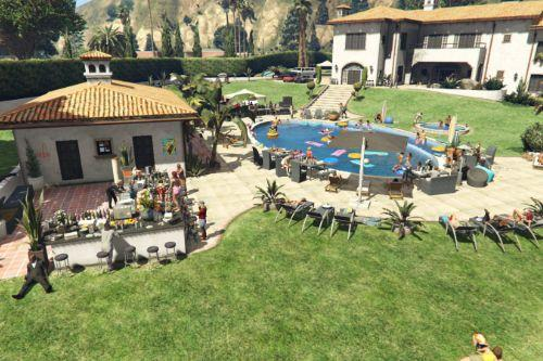 Vinewood Hills Pool Party [Menyoo]
