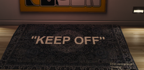 "Virgil Abloh x IKEA ""KEEP OFF"" Rug"