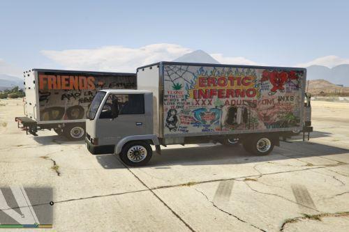 VLONE Graffiti Liveries for Mule truck
