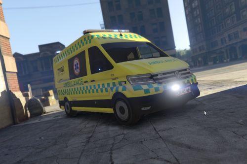 Volkswagen Crafter - Danish Præhospitals Ambulance - ELS / REPLACE - LimiT