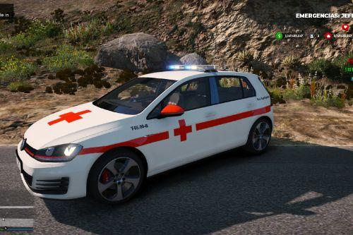 Pack Volkswagen Golf MK7 3 Liverys[Cruz Roja Española,Policia Nacional y Guardia Civil]
