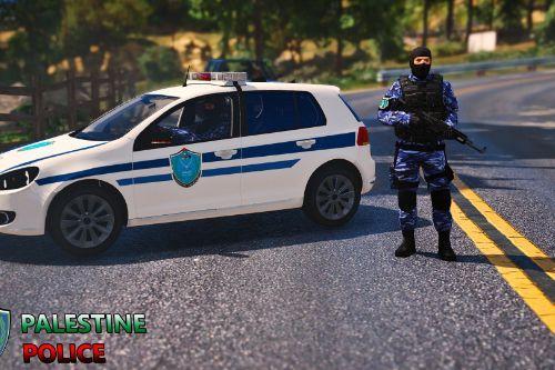 Volkswagen Golf | Palestine police car | ramallah الشرطة الفلسطينية