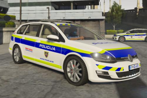 Volkswagen Golf Variant Slovenian police [ELS | Replace | Template]