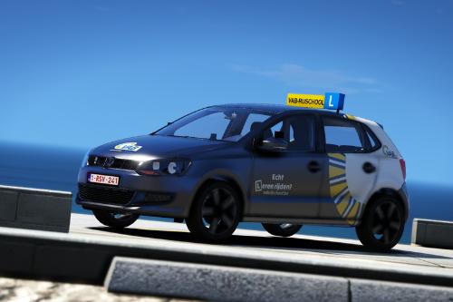 Volkswagen Polo Belgium/Belgian driving school/VAB rijschool