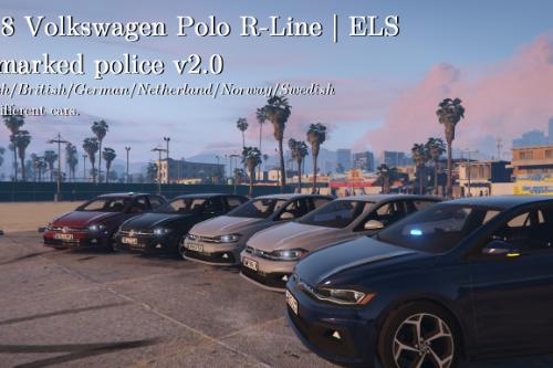 Volkswagen Polo R-Line 2018 | Unmarked British/Danish police | ELS ready