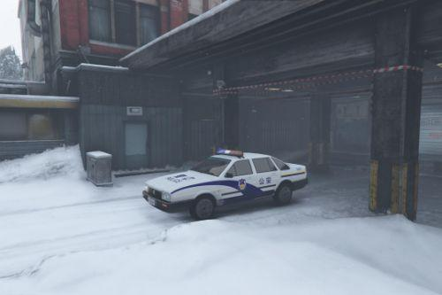 volkswagen santana china police livery remastered