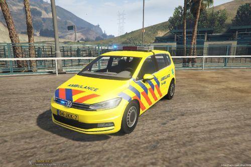Volkswagen Touran 2016 Dutch Ambulance