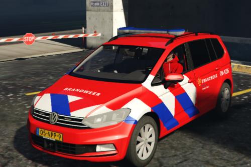 Volkswagen Touran 2016 brandweer/fire fighter OVD-B [4K] [OOV Striping] [Dutch]
