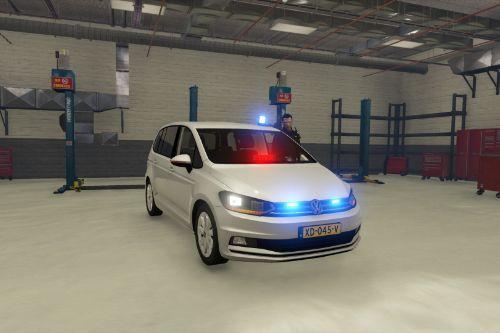 Ongemarkeerde politie Volkswagen Touran 2016 [Replace]