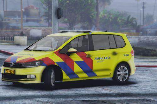 Volkswagen Touran 2016 Rapid Responder / Dutch Ambulance [ELS / REPLACE]