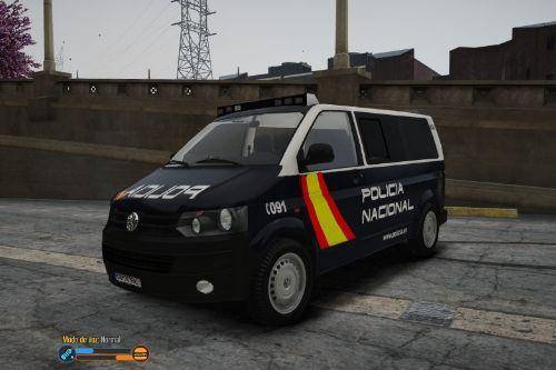 Volkswagen Transporter T5 Policia Nacional [FiveM-Replace]
