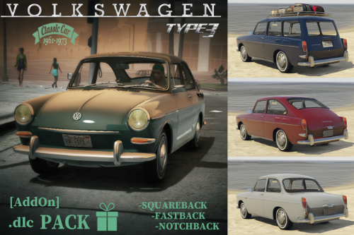 VOLKSWAGEN Type 3 | Squareback | Fastback | Notchback [Add-On | Extras | LODS]