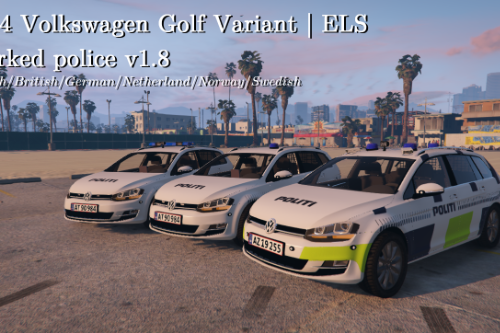 VW Golf Variant 2014 | Reflective | ELS ready | Danish police | Marked and unmarked |
