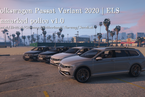 VW Passat B8.5 2020 | Unmarked Danish/German police | ELS ready