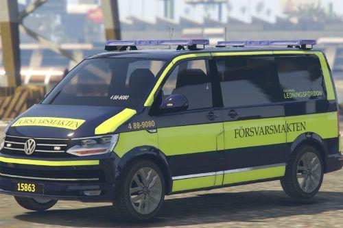 VW T6 'Försvarsmakten' Ledningsfordon Swedish paintjob