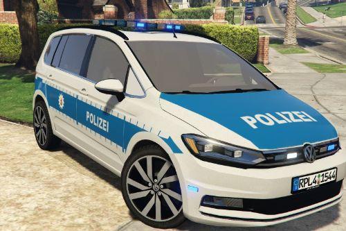 VW Touran Polizei RLP Skin