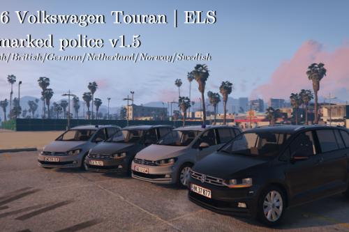 VW Touran 2016 | Unmarked British/Danish police | ELS ready