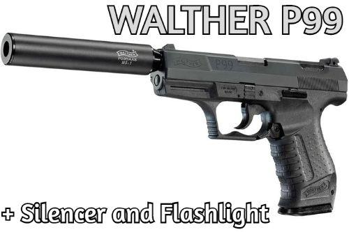❂ Walther P99 ❂ + Flashlight and Silencer 1.0.0