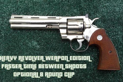 [ Weapon Edition ] : Heavy Revolver Shoots More Serially & Optional 8 Round Clip