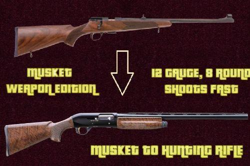 [ Weapon Edition ] : Musket to 12 Gauge Hunting Rifle