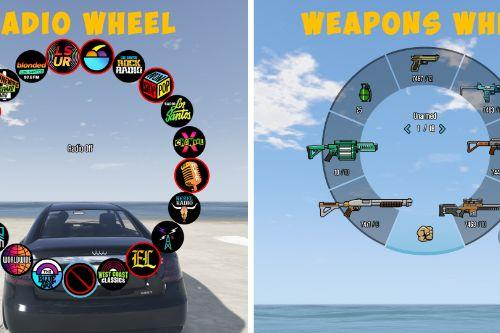 Custom Weapons Wheel and Colorful HUD 2020 (Weapons, Radio)