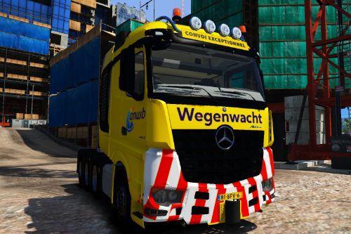 Wegenwacht ANWB Arocs | Dutch Mechanic | Convoi Exceptionnel