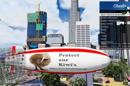 weird kiwi blimp