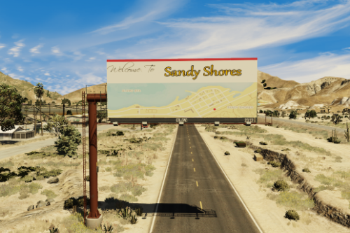 Welcome to Sandy Shores billboard (FiveM Ready)