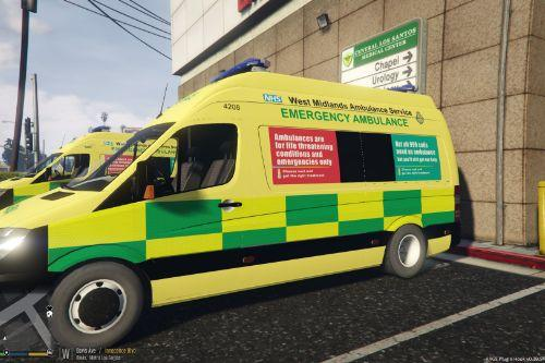 West Midlands Ambulance Service Mercedes Sprinter (Fictional)