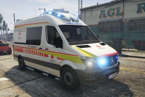Wiener Rotes Kreuz (NEUES DESIGN) RTW Mercedes Sprinter Otaris (Vienna Ambulance)