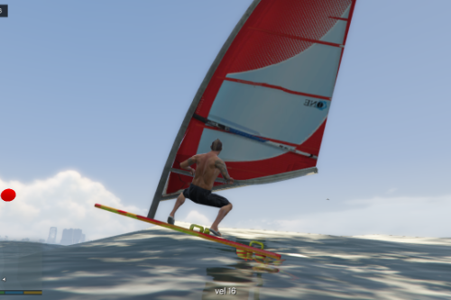 Windsurf (it's moving with wind)