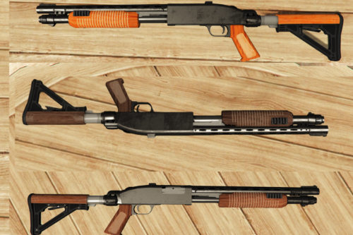 Wooden Pump Shotgun Retexture
