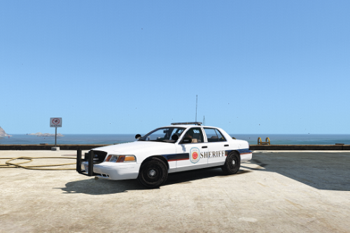 Wynonna Earp Purgatory Sheriff Department Paintjob for 2011 Ford Crown Victoria Police Interceptor