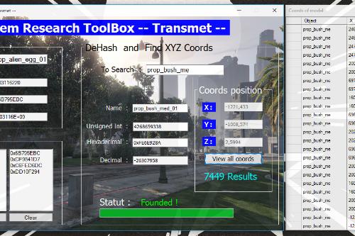 XtremToolBox -- Hash / DeHash / XYZ coords object