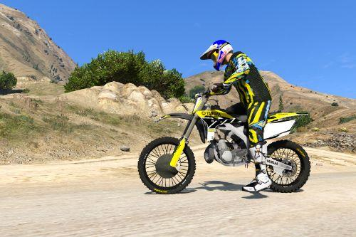 Yamaha YZ 250 - Graphics Vintage Yellow