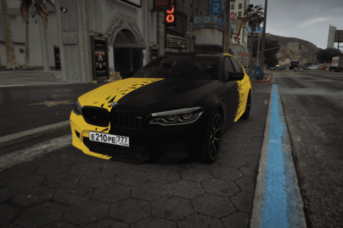 Yellow matrix || paintjob for BMW M5 F90 Competition