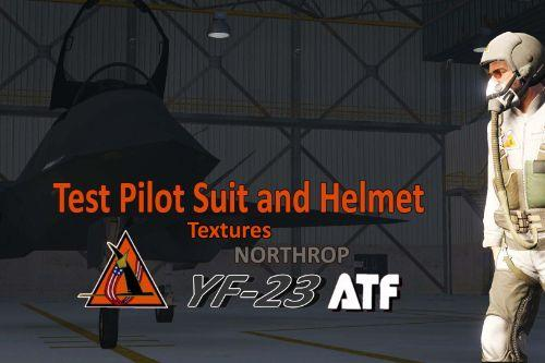 YF-23 Test Pilot Flight Suit and Helmet for Freemode Male [Texture]