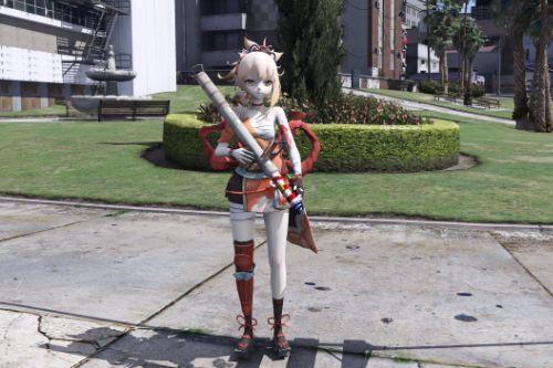 Yoimiya from Genshin Impact [Add-On Ped]