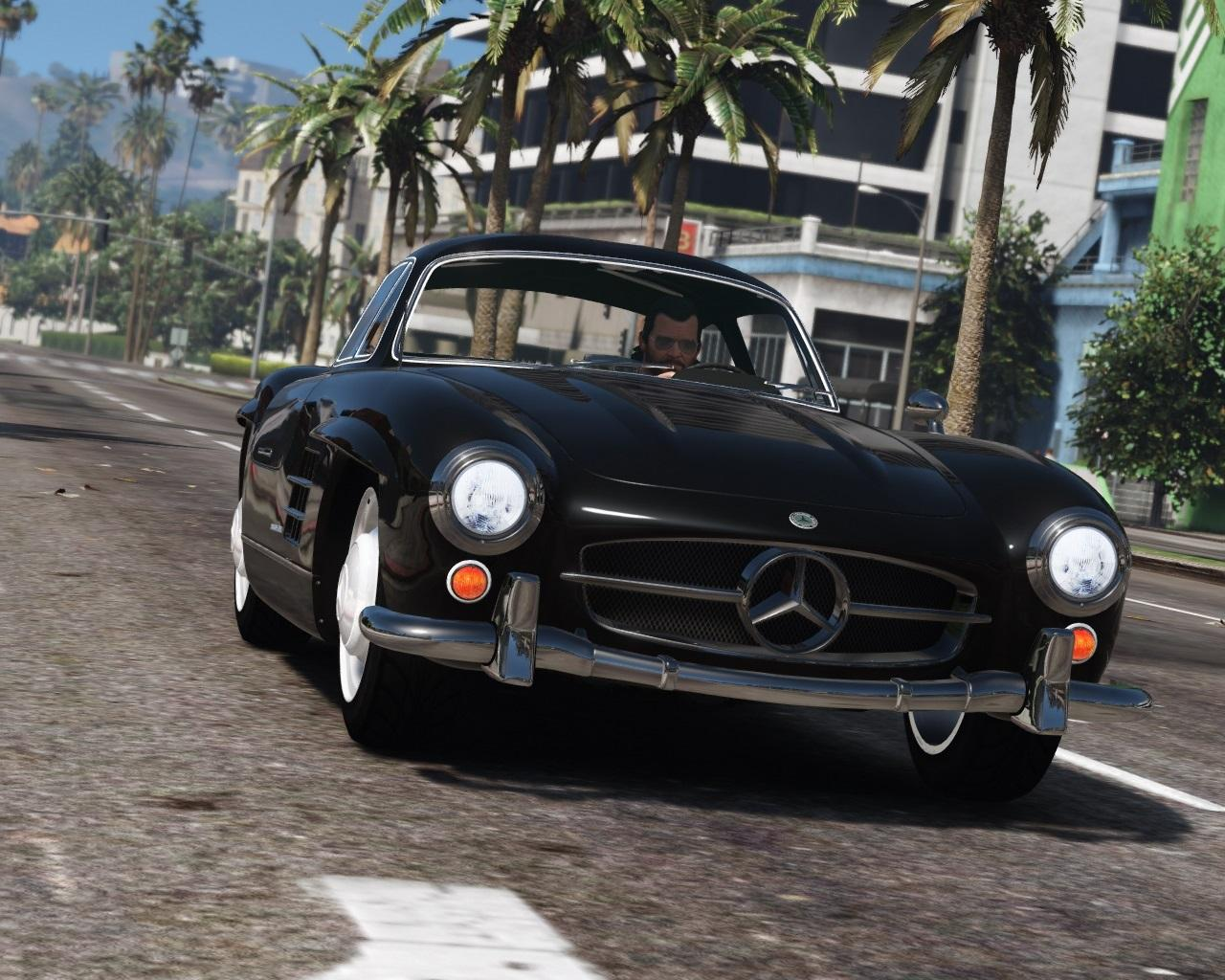 1955 mercedes benz 300sl gullwing add on replace for Mercedes benz mods